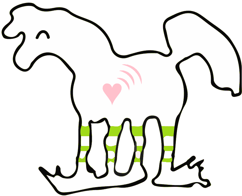 Logo der Kinderreitschule mit Herz